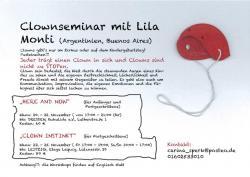 Clownsseminar mit Lila Monti, 20-22.11. 17-21 Uhr Kukulida