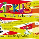 Flyer zur Zirkusprojektwoche vom 9.-13.2.2015 im Stadtteilzentrum EMMERS